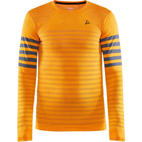 Craft Fuseknit Comfort Blocked Roundneck LS Top Men tiger/asphalt